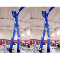 Blue Advertising Inflatable Dancer Man with Two Air Blowers for Outdoor