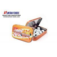 H4U 25g Orange Flavor Sugar Free Fresheners Mints in Hinged Tin