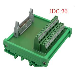 China IDC26 26pin Header Breakout Board Terminal Block Connector PLC adapter Interface on sale