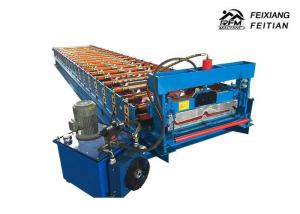 China Steel Profile IBR Trapezoidal Sheet Roll Forming Machine With 8-10/Min Working Speed on sale