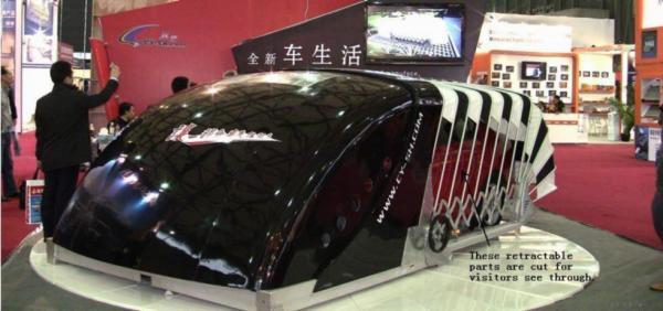 Solar Powered Outdoor Retractable Car Garage Images