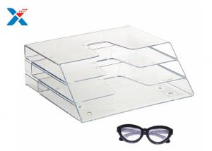 China Office Clear Acrylic Magazine Holder , Acrylic Brochure Holders Eco - Friendly on sale