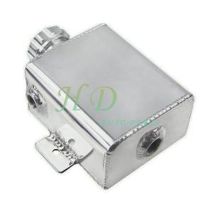 Universal Fabricated Aluminum Coolant Expansion Catch Tank w//Billet Cap