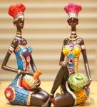 African Style beautiful lady craftwork Decoration