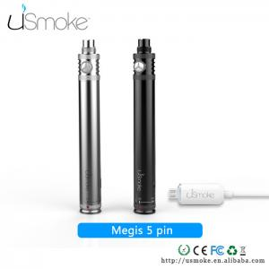 China uSmoke smoking electronic cigarettes Megis 5 PIN USB Cable Passthrough battery 650mah on sale