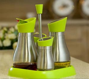 China 2015New Design Hot Sale Glass Jar Glass Oil and Vinegar Bottle Spice Jar Storage Jar Cruet on sale