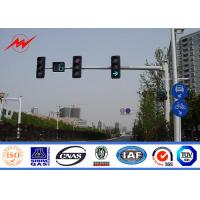 6.5m Height High Mast Poles / Road Lighting Pole For LED Traffic Signs , ISO9001 Standard