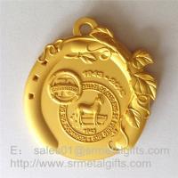 Matte gold medals and medallions, custom made matt gold sport prizing medals,