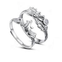 China Dragon and Phoenix couple jewelry Silver jewelry for men and women opening on sale