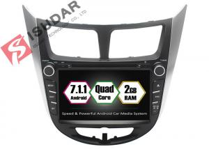 China Rockchip PX3 7 Inch 2 Din Android Car DVD Player For Hyundai Verna / Accent / Solaris on sale