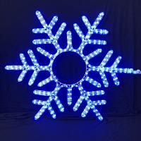 China Christmas snowflake pattern LED rope light motif light IP55 various sizes and colors OEM/ODM acceptable steady/flash LED on sale