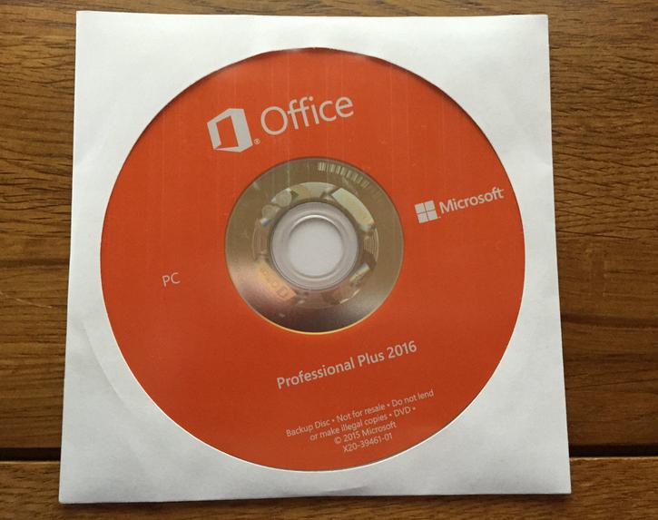 microsoft office professional 2016 key card