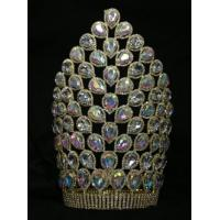 China Big AB crystal rhinestone pageant crowns and tiaras supplier manufactuer cheap pageant crowns wholesale pageant crowns on sale