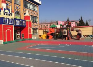 China VOC Free No Slip Soft Kindergarten Flooring With Shock Absorption Antimicrobial on sale