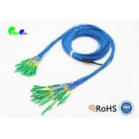 Single Mode Fiber Optic Cable Patch Cord Customized LC APC - LC APC 24 Fibres Staggered