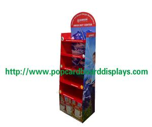 China Magazine Holder Cardboard Floor Displays , Supermarket Cardboard Advertising Displays on sale