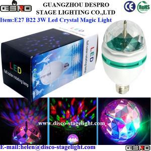China Christmas Decoration Rotating LED Magic Ball Light E27 B22 3W LED Party Lighting on sale