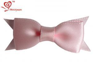 China Single face satin ribbon Decorative Christmas Bows , 2cm Elastic Ring holiday ribbons and bows on sale
