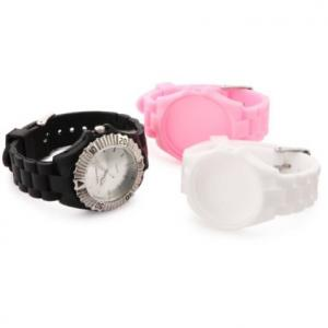 China good quality enviroment-friendly fashion silicone quartz watch on sale
