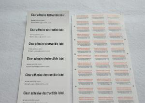 China Custom Self Adhesive Blank Eggshell Stickers Transparent For Car Access License on sale