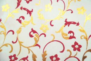 China Golden Inlaid PVC Table Cloth on sale