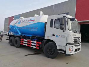 China Dongfeng 6X4 18cbm Sewer Vacuum Suction Truck 18 Ton For City / Factory Cleaning on sale