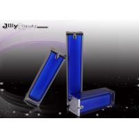 China Column Dark Blue ABS Plastic Airless Bottle PMMA With Shoulder Sleeve on sale