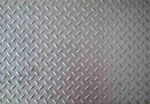 China Grade SUS304 Stainless Steel Checkered Plate Thickness 2.0 - 8.0mm on sale