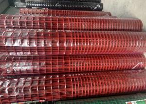 China 2.2 MM Red Color PVC Coated Welded Wire Mesh 1'' X 1'' Hole Q195 Material on sale