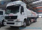 Camion-citerne aspirateur chimique de carburant de Howo 8x4 Sinotruk, camion-citerne aspirateur de l'acier au carbone 310HP