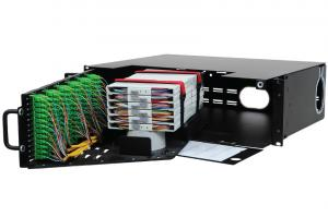 China 3U Optical Fiber Distribution Frame High Density Front Access 144 Fibers Capacity on sale