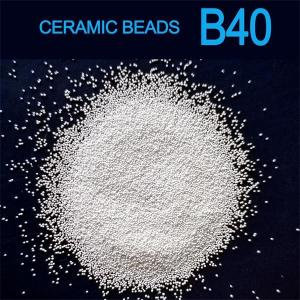 China B40 size 0.250-0.425mm ceramic beads blasting media for stainless steel plate on sale