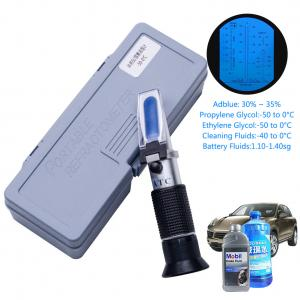 China 4 In 1 Engine Fluid Glycol Antifreeze Refractometer Freezing Point Car Battery Hand Held on sale