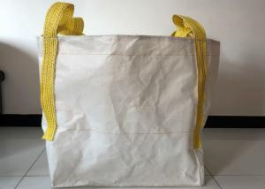 Quality Building Use 1 Tonne Bulk Bags , 100% Virgin PP White Large Bulk Bags for sale