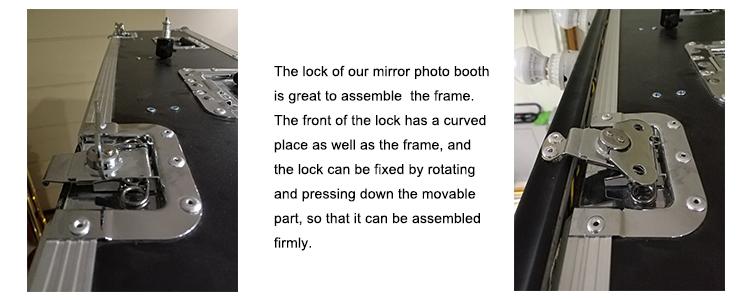 photo booth frame lock