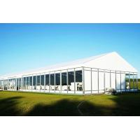 Outdoor Tent Structure White PVC Corporate Event Marquee Tent With Air Conditioner
