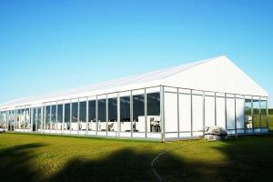 China Outdoor Tent Structure White PVC Corporate Event Marquee Tent With Air Conditioner on sale