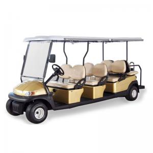 China AC System Electric 12 Seater Golf Cart with Solar Panel , 45km Maximum Travel Distance on sale