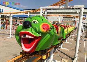 China Caterpillar Theme Park Little Kid Roller Coaster Steel And Fiberglass Materials on sale