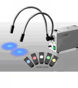 China Fiber Optic Microscope Illuminators / Illuminator with Color Filter Optical Fiber Guide on sale