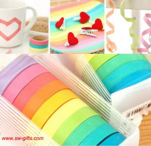 China New Design DIY decorative adhesive paper sticky paper tape for scrapbooking Diary Gifts on sale