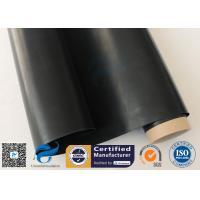 Black PTFE Coated Fiberglass Fabric 0.25mm Teflon Cloth For Hot Press