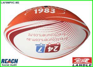 China White / Orange Size 9 Neoprene American Football Balls Machine Stitched on sale