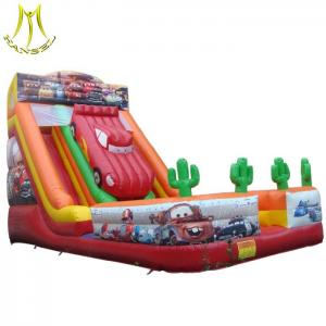 China Hansel hot selling used trampolines inflatable slide supplier in Guangzhou on sale