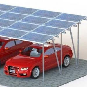 China Cusomized Simply Constructed Solar carport 10KW Solar Car Shed System for home use on sale