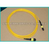 Stainless Steel Pinned Fiber Optic MTP - MTP Trunk Cable 12 Strands 9 Micron
