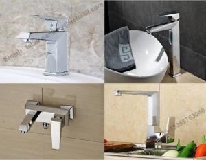 China single handle single hole 35 cartidge factory price bathroom square brass basin faucet,basin mixer ,brass sink &faucet on sale