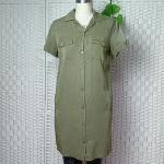 Women Long Tencel shirt fashion light weight 50%COTTON,50%POLYESTER Navy blue