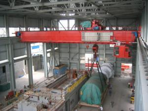 China 32 ton Heavy Duty Double Girder Overhead Crane With Electric Hoist on sale