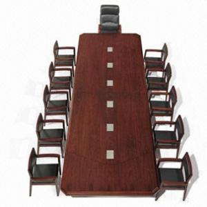 Classic Wooden Conference Table Made Of Spraypainted Wood Veneer - Wood veneer conference table